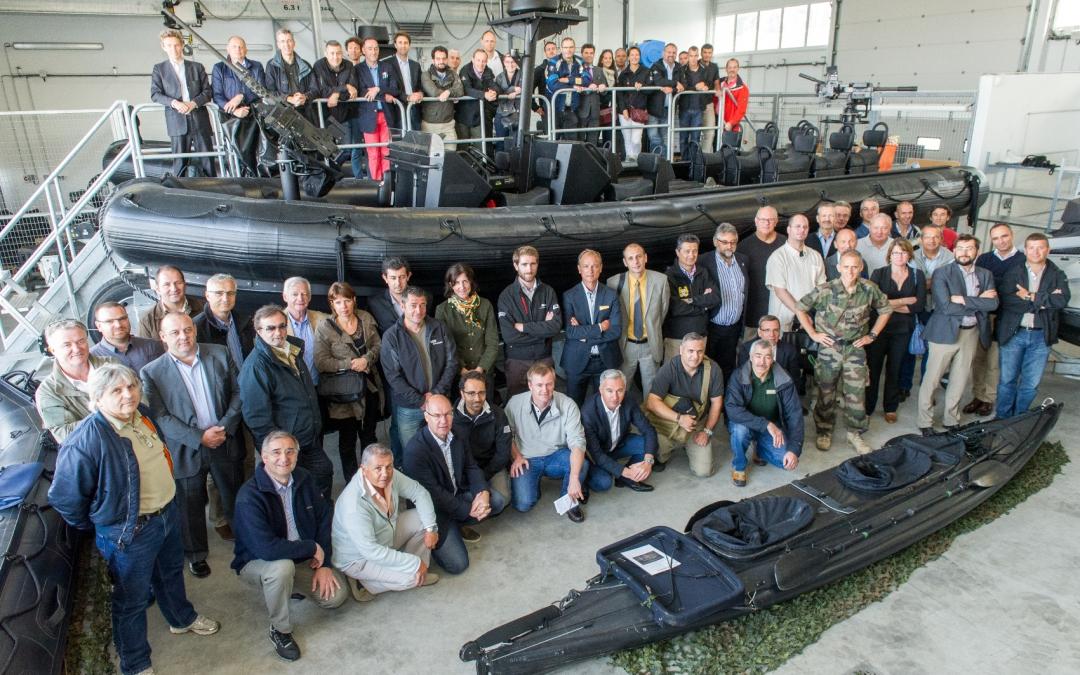 Visite des commandos marine à Lorient,